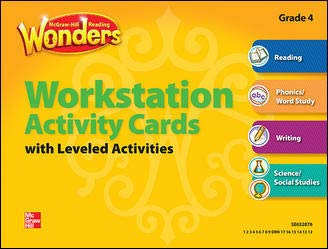 9780021186952: Reading Wonders, Grade 4, Workstation Activity Cards Package (ELEMENTARY CORE READING)