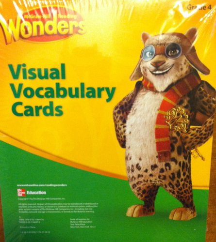 9780021186976: McGraw Hill Reading Wonders Visual Vocabulary Cards Pack, Grade 4