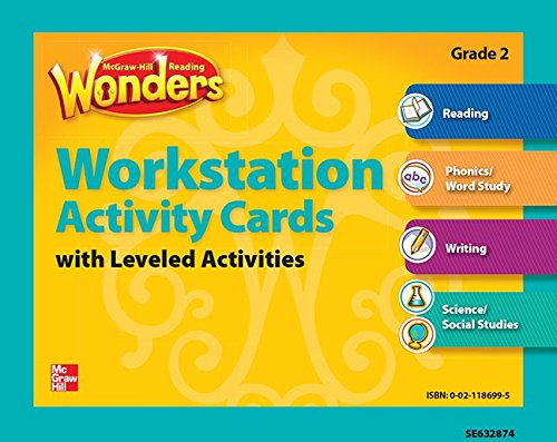 9780021186990: Reading Wonders, Grade 2, Workstation Activity Cards Package Grade 2 (ELEMENTARY CORE READING)