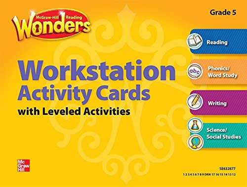 9780021193257: Reading Wonders, Grade 5, Workstation Activity Cards Package (ELEMENTARY CORE READING)