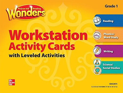 9780021195213: Reading Wonders, Grade 1, Workstation Activity Cards Package (ELEMENTARY CORE READING)