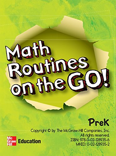 9780021289356: MY MATH MATH ROUTINES ON THE GO PREK 201
