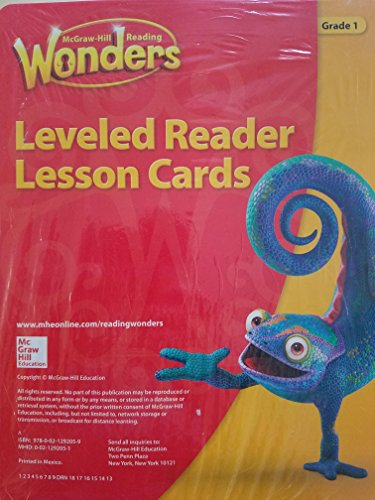 Leveled Reader Lesson Cards - McGraw-Hill Reading Wonders, Grade 1