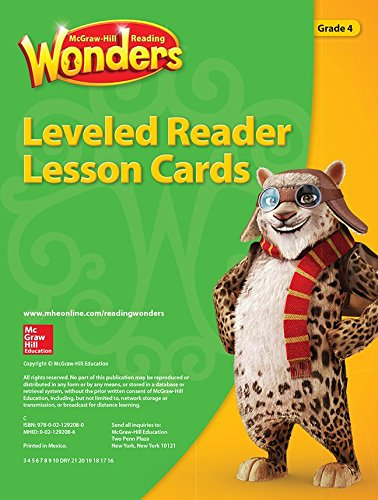 9780021292080: McGraw-Hill Reading Wonders Leveled Reader Lesson Cards Grade 4