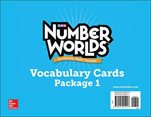 9780021294213: Number Worlds 2007-2008: Vocabulary Cards Levels A-E