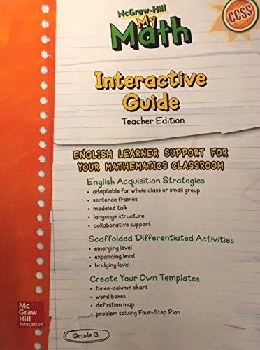 McGraw Hill My Math Interactive Guide Teacher Edition Grade
