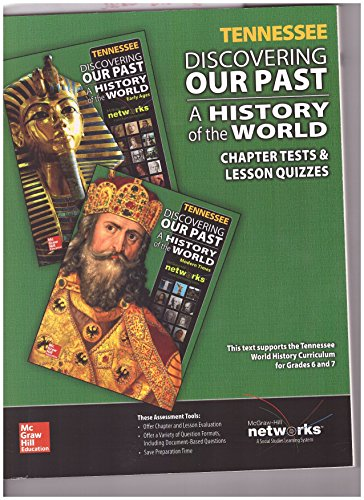 9780021340552: Tennessee Discovering Our Past a History of the World Chapter Tests & Lesson Quizzes