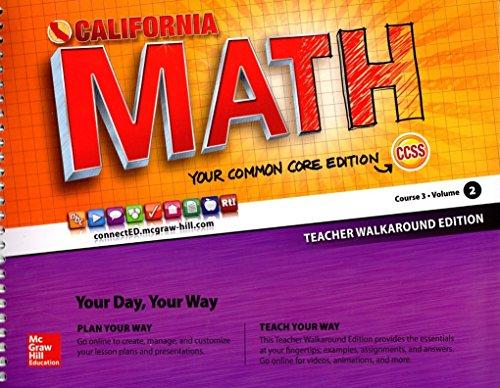 9780021356737: CA Math CCSS Teacher Walkaround Edition Course 3, Volume 2