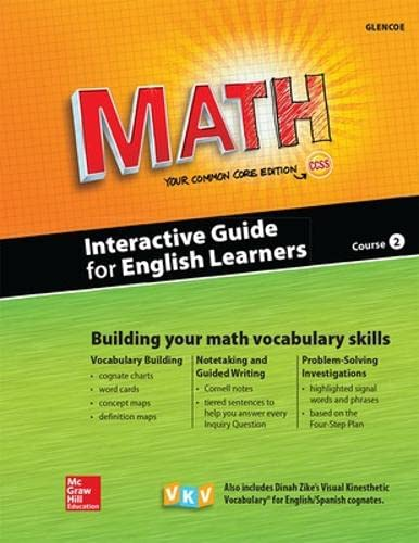 9780021356867: Glencoe Math, Course 2, Interactive Guide for English Learners, Student Edition (MATH APPLIC & CONN CRSE)