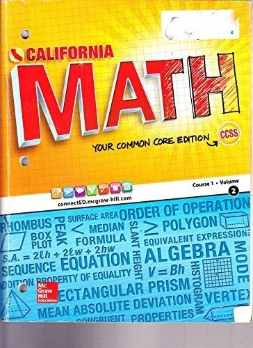 9780021359110: CA Math Your Common Core Edition Course 1 Volume 2