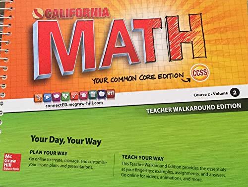 9780021359295: CA Math Course 2 Volume 2 Teacher Walkaround Edition