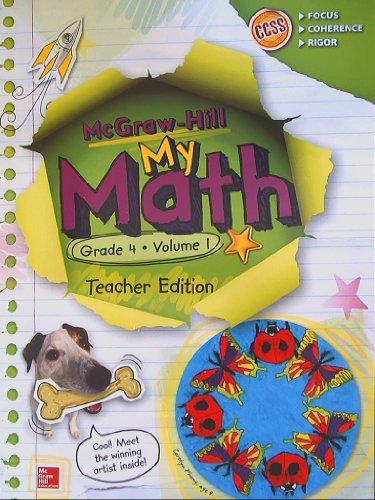 9780021383993: My Math Teacher Edition, Grade 4, Vol. 1