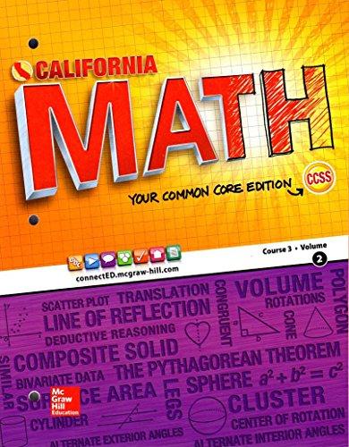 9780021387151: California Math Your Common Core Edition Course 3 Volume 2