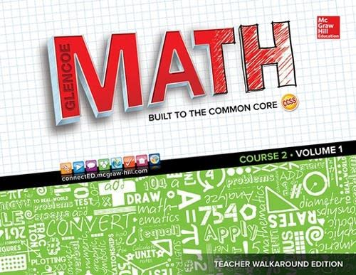 9780021389841: Glencoe Math, Course 2: Volume 1 (Mathematical Application and Connect Course)