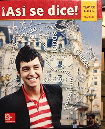 9780021412655: Asi Se Dice Spanish Level 2 - Teacher Wraparound Edition