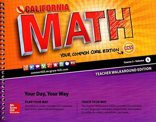 9780021415021: California Math Your Common Core Edition Course 3 Volume 1