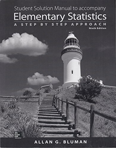 9780021418169: Student Solution Manual to Accompany Elementary Statistics a Step By Step Approach 9th Edition