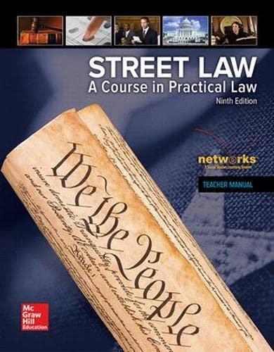 9780021429288: Street Law: A Course in Practical Law, Teacher Manual (NTC: STREET LAW)