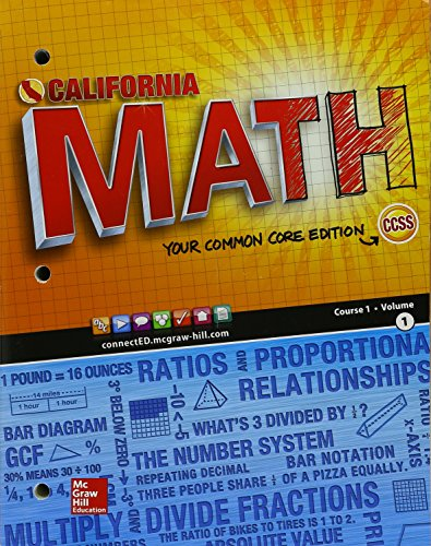 9780021440115: California Math Course 1 Volume 1