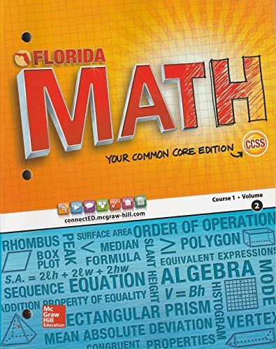 9780021440832: Florida Math Your Common Core Edition Course 1 Volume 2 CCSS