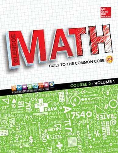 9780021447893: Glencoe Math: Course 2, Volume 1