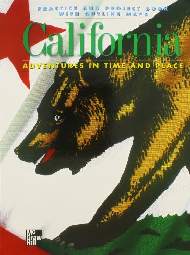 9780021476435: California: Practice and Project Book With Outline Maps