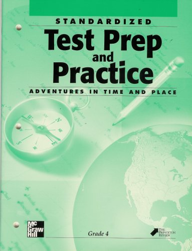 9780021490851: Standardized Test Prep and Practice Adventures in Time and Place Grade 4