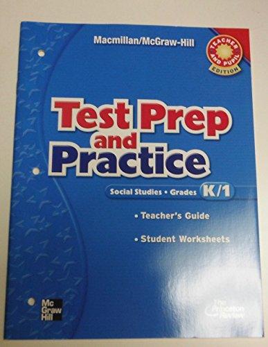 Test Prep and Practice Kindergarten, Grade 1: Unknown Author