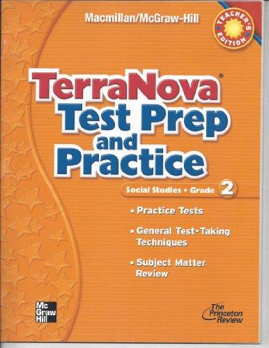 9780021493753: TerraNova Test Prep and Practice, Social Studies, Grade 2 Teacher Edition
