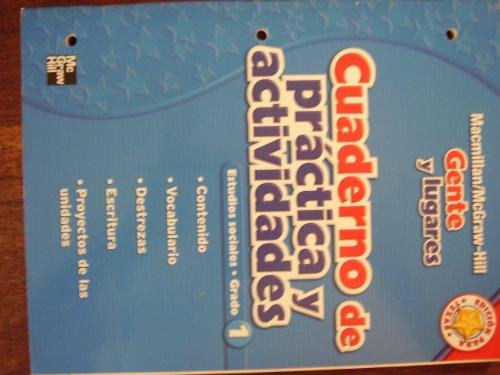 9780021494538: Cuaderno de Practica y Actividades: Gente y Lugares, Estudios Sociales, Grado 1