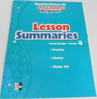 9780021495566: Lesson Summaries for