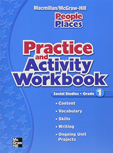 9780021499878: Practice and Activity Workbook: Social Studies, Grade 1 (People and Places)