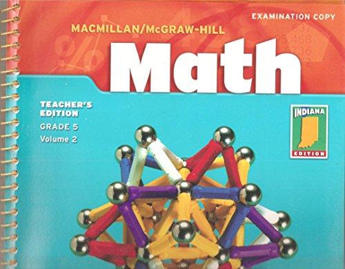 MacMillan/McGraw-Hill Math Teacher's Edition Grade 5 Volume: Douglas H. Clements