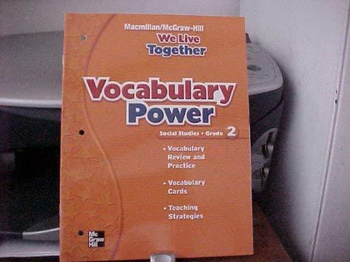 9780021504053: Vocabulary Power (We Live Together, Social Studies Grade 2)