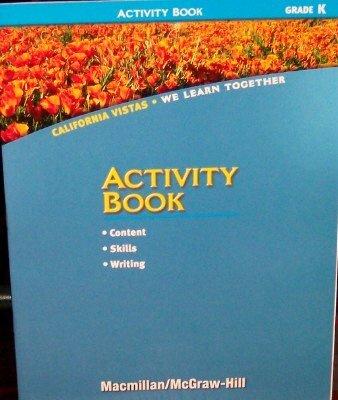 9780021504633: Activity Book, Grade Kindergarten (California Vistas, We Learn Together)