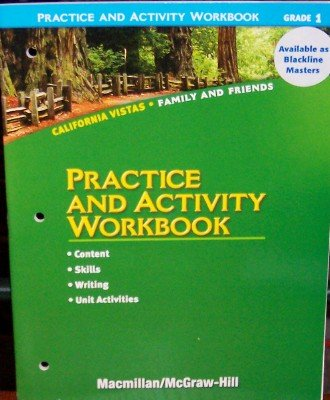 9780021504640: Practice and Activity Workbook, Grade 1 (California Vistas: Family and Friends)