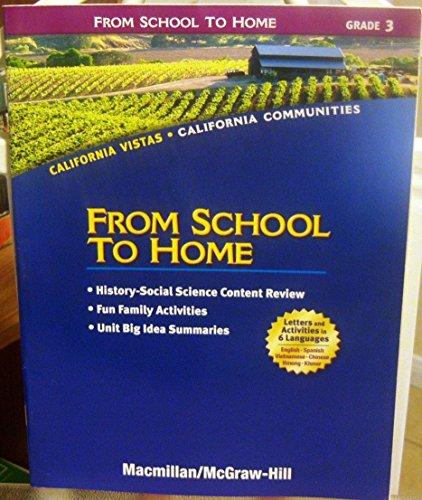 9780021504732: Grade 3 From School to Home (California Vistas: California Communities)