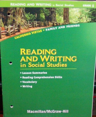 9780021505869: Grade 1 Reading and Writing in Social Studies (California Vistas: Family and Friends)