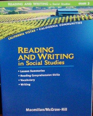9780021505883: Reading and Writing in Social Studies, Grade 3 (California Vistas: California Communities)