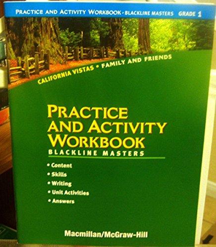 9780021507566: Grade 1 Practice and Activity Workbook [Blackline Masters] (California Vistas: Family and Friends)