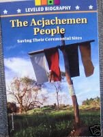 9780021508358: The Acjachemen People (Saving Their Ceremonial Sites) (Leveled Biography)