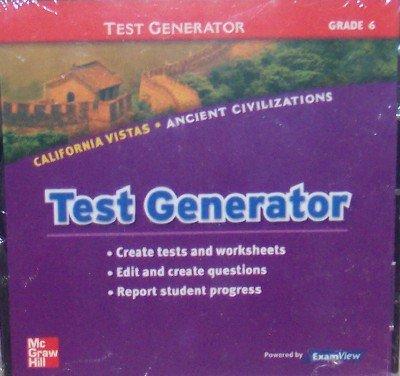 9780021508570: Test Generator, Grade 6 (California Vistas: Ancient Civilizations)
