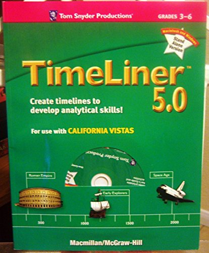 9780021508600: TimeLiner 5.0, Grades 3-6 with CD, Tom Snyder Productions (California Vistas Software)