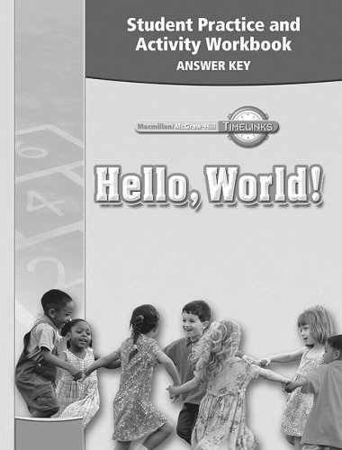 9780021525393: TimeLinks: Kindergarten, Student Practice and Activity Workbook Answer Key