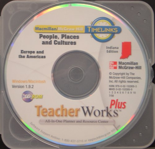 9780021533053: Timelinks: People, Places and Cultures: Europe and the Americas: Teacher Works Plus CD Indiana Edition