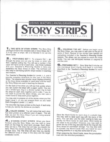 9780021812882: Sentence Strips (MacMillan/McGraw Hill Reading/Language Arts, Exploring Print Vocabulary / Retelling)