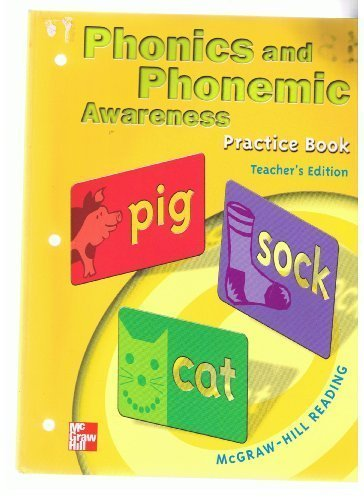 9780021855636: Phonics and Phonemic Awareness:Grade 1 Practice book(Teacher's Edition...