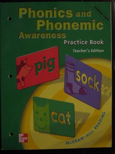 9780021855650: Phonics and Phonemic Awareness Practice Book Teacher's Edition Grade 3 McGraw-Hill Reading