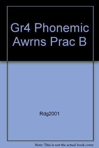 9780021855667: Phonics and Phonemic Awareness, Teacher's Edition, Pratice Book, Grade 4