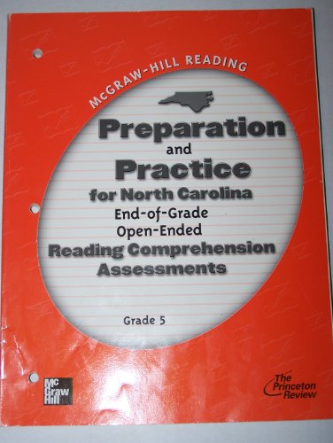9780021885268: McGraw-Hill Reading Preparation and Practice for North Carolina End-of-Grade Open-Ended Reading Comprehension Assessments Grade 5